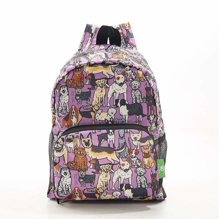 Eco Chic Backpack Mini - Lilac Dogs
