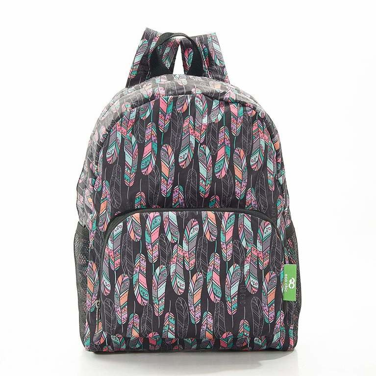 Eco Chic Backpack Mini - Black Feather