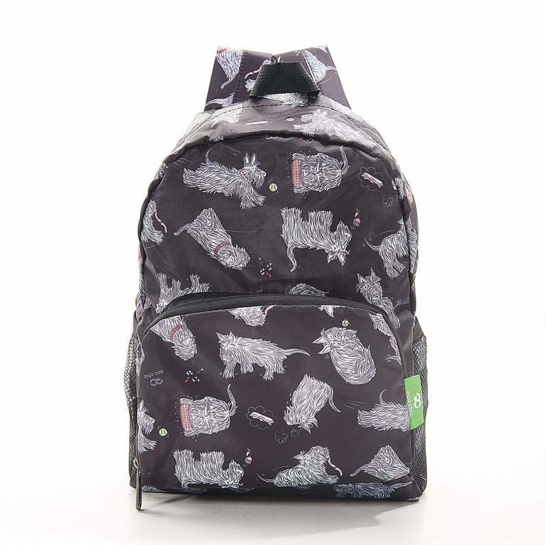 Eco Chic Backpack Mini - Black Scatty Scotty