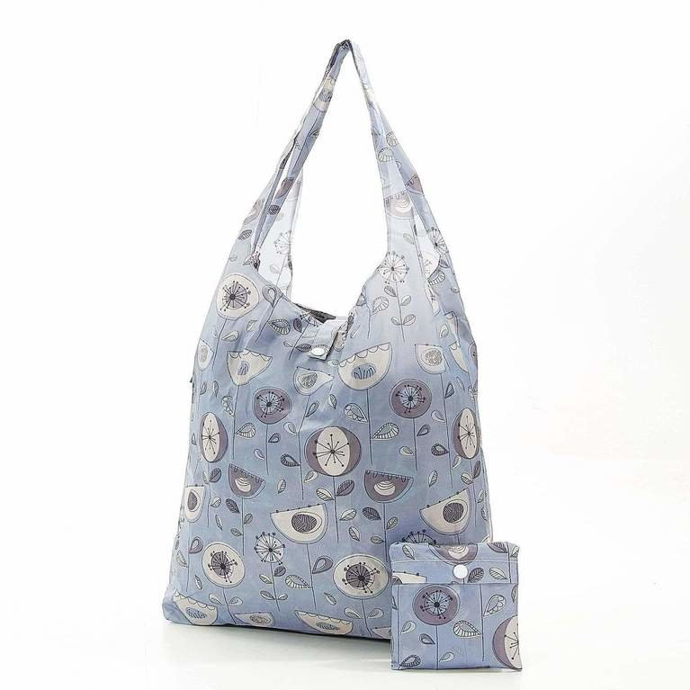 Eco Chic Foldaway Shopper - Grey Flower