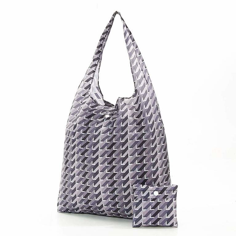 Eco Chic Foldaway Shopper - Grey Geo