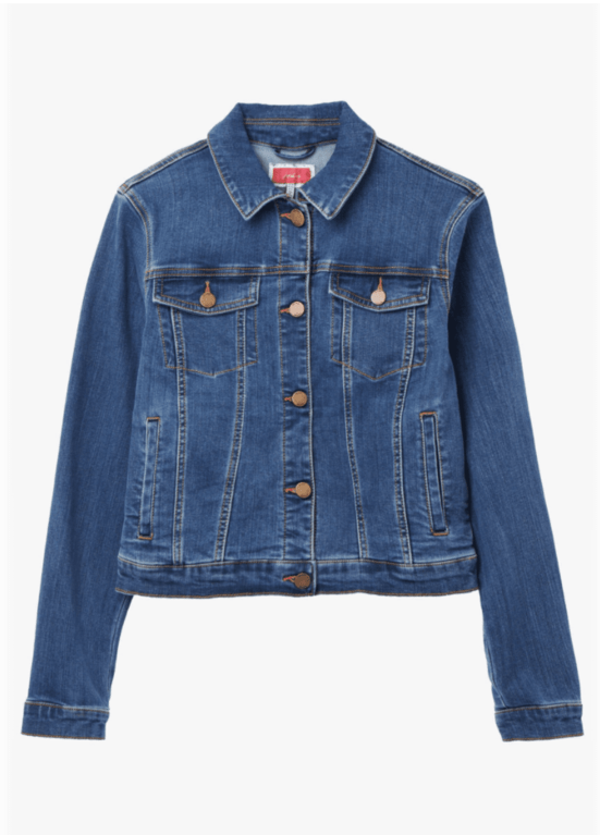 Joules Elsa Denim Jacket - Mid Blue