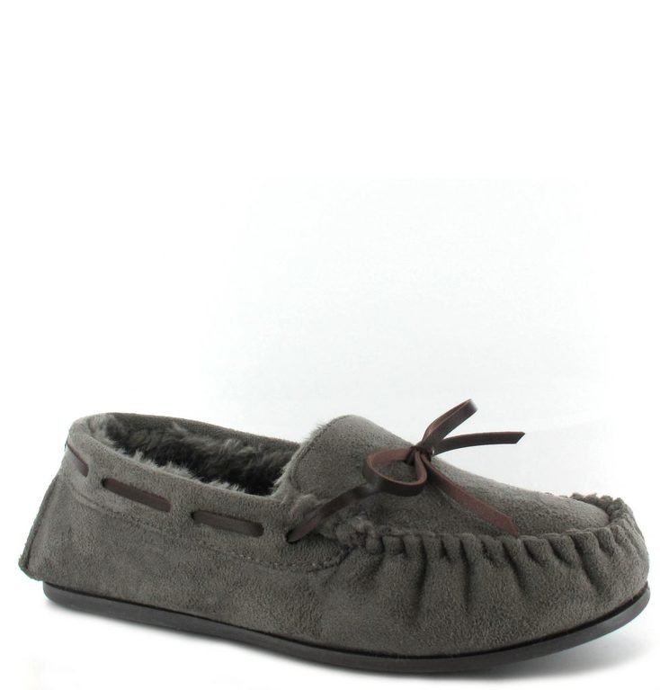 Faith Moc Slipper - Grey
