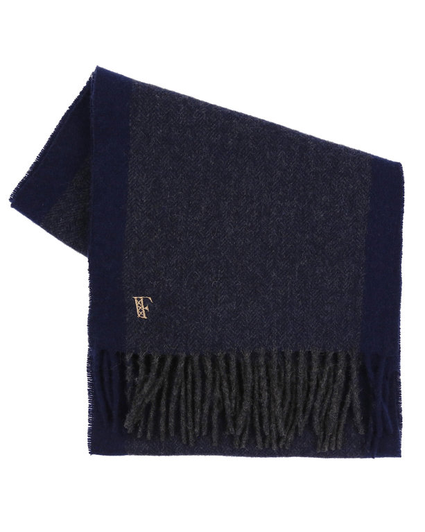Finnieston Close Lambswool Scarf - Navy