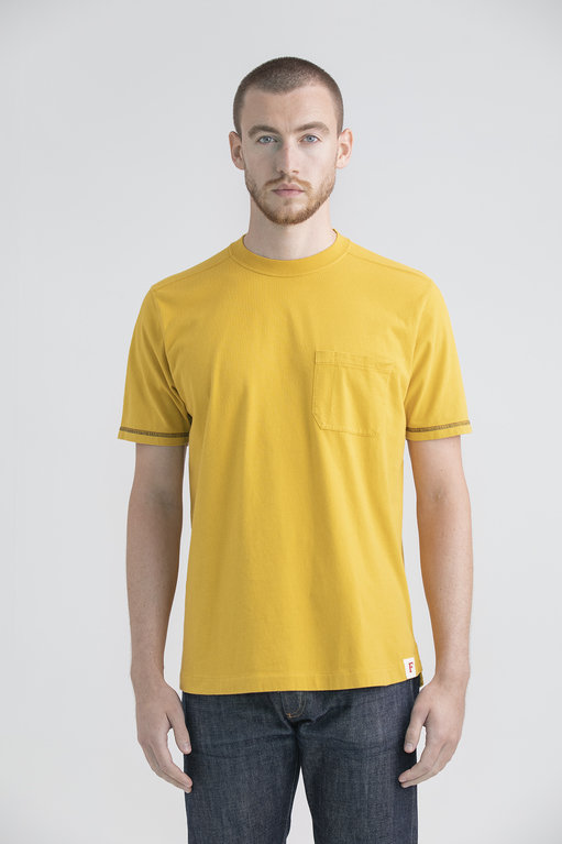 Finnieston Fairfield Pocket Tee - Mustard