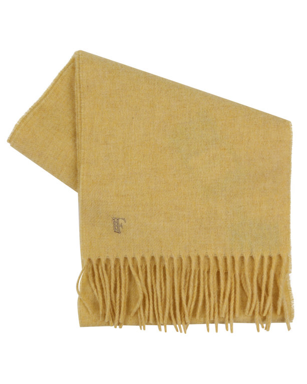 Finnieston Plain Lambswool Scarf - Parchment