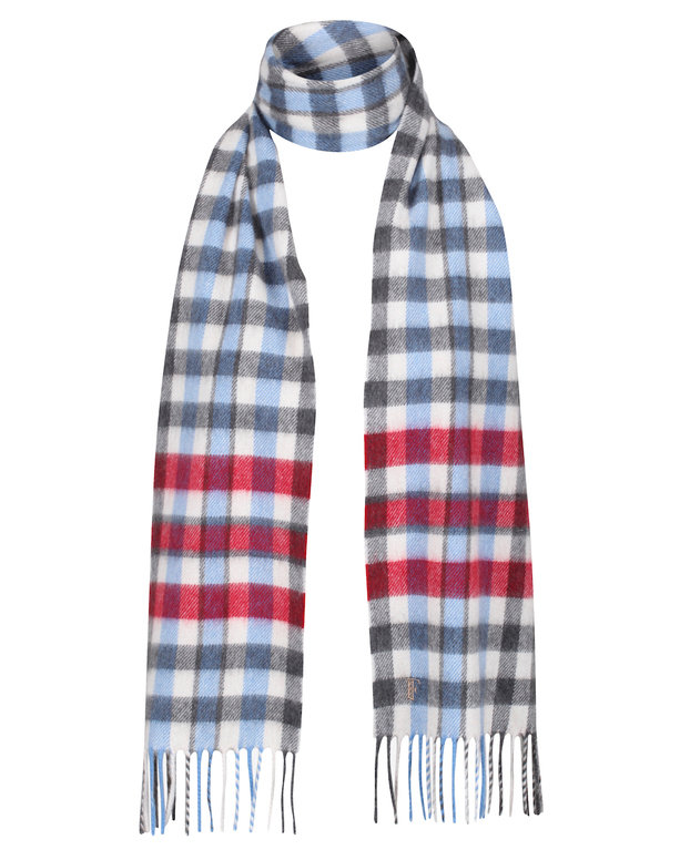 Plaid Finnieston Cashmere Scarf - Red