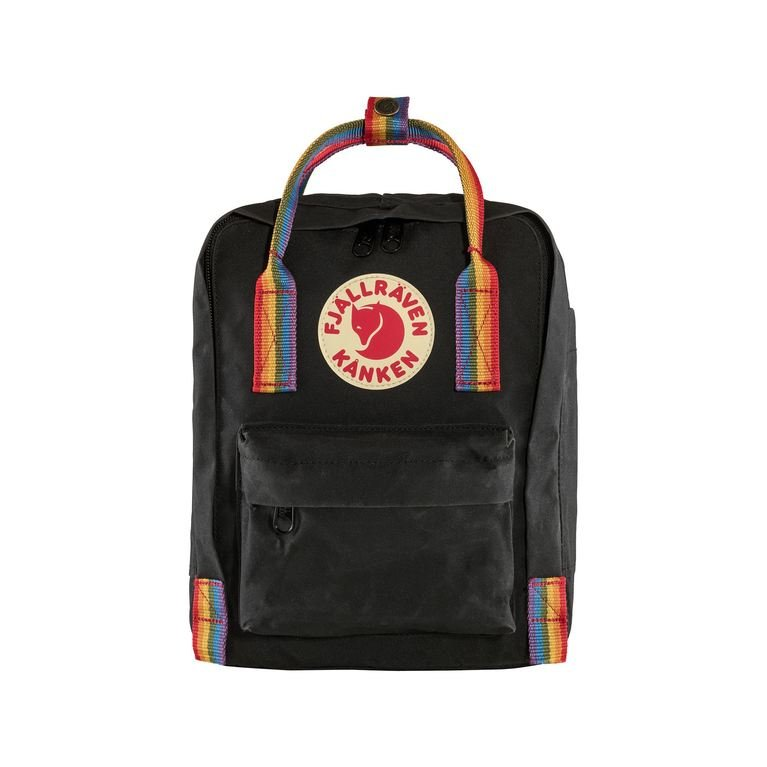 Fjallraven Kanken Mini Rainbow - Black