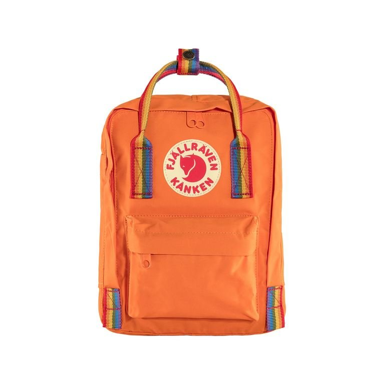 Fjallraven Kanken Mini Rainbow - Burnt Orange
