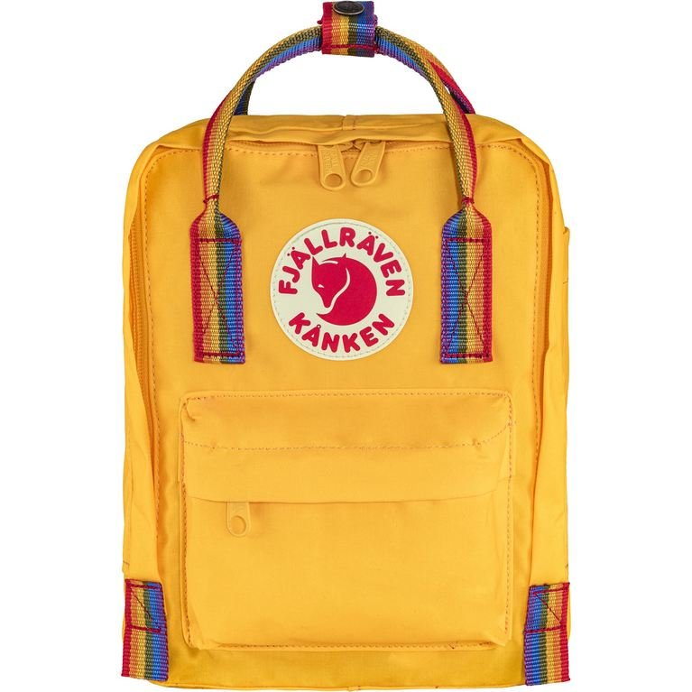 Fjallraven Kanken Mini Rainbow - Warm Yellow