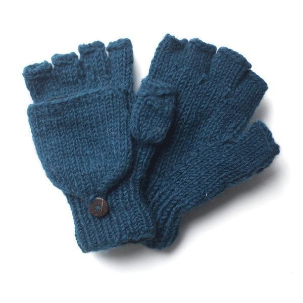 From the Source Fingerless Mitt  - Teal