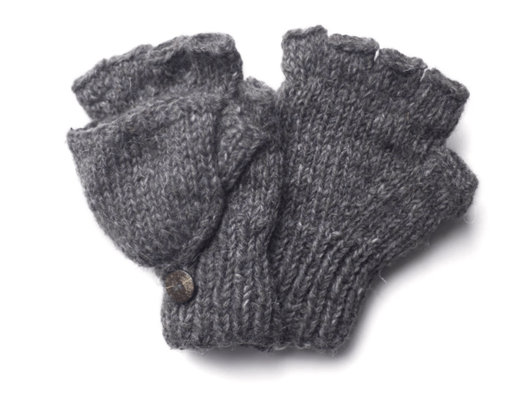 From the Source Fingerless Mitts  - Grey
