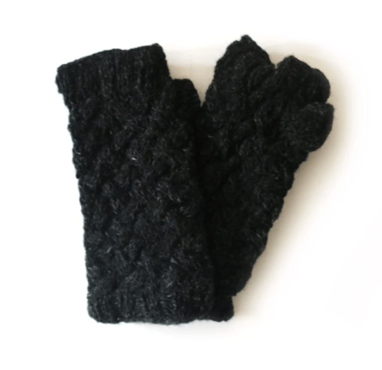 From The Source Plait Knit Wrist Warmer - Black