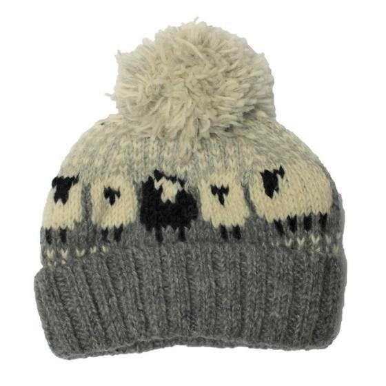 From The Source Sheep Bobble Hat - Grey