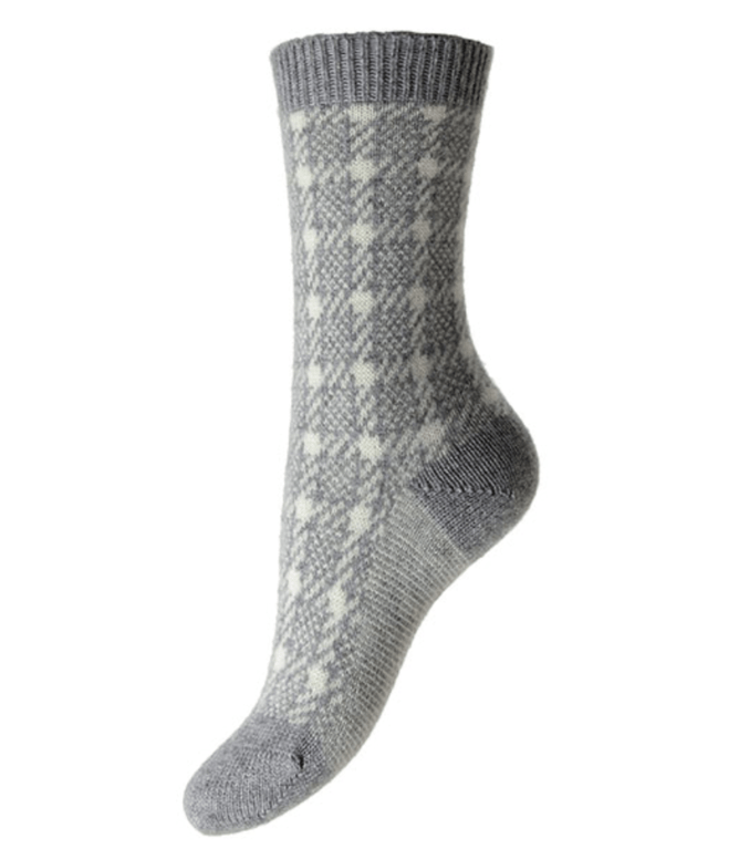Pantherella Women's Hannah Cashmere Socks - Flannel