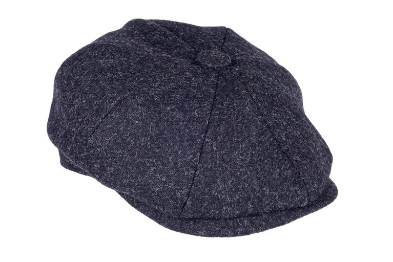 Heather Hat's Archie Tweed 8PC Cap - Black