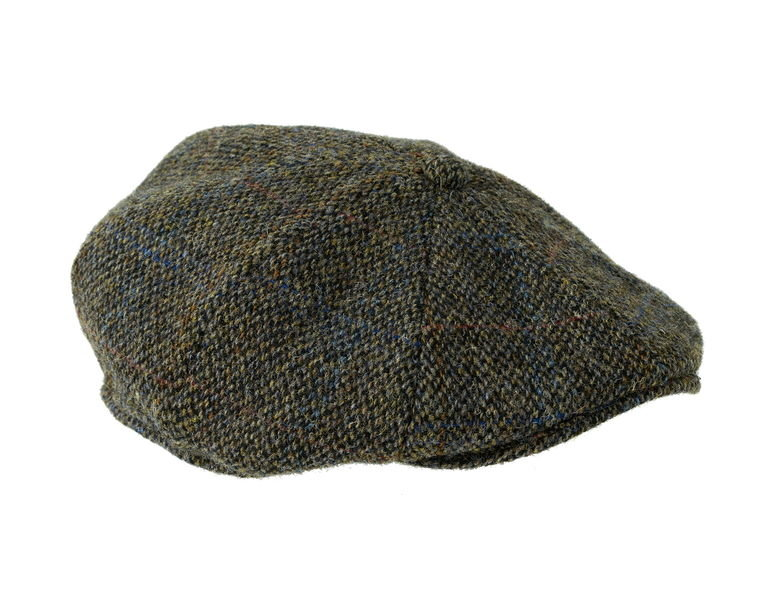 Heather Hat's Arran Harris Tweed 8pc Cap - Grey