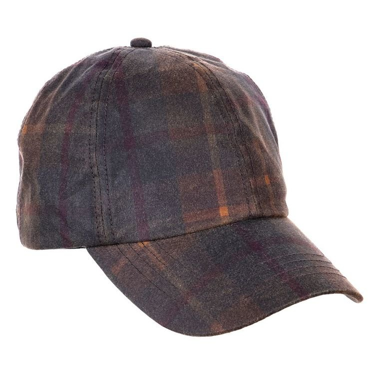 Heather Hats Ewan Tartan Wax Baseball Cap - Hunter