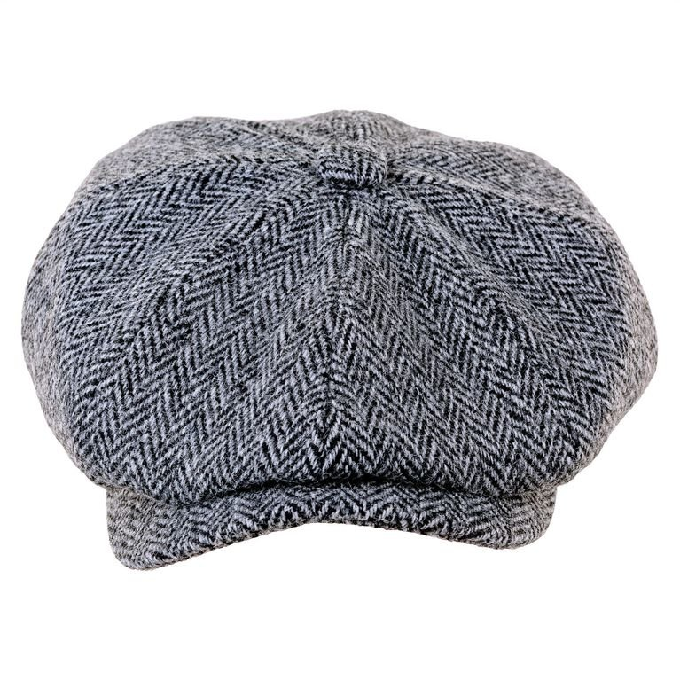 Heather Hats Scott Newsboy Cap  - Black/Grey