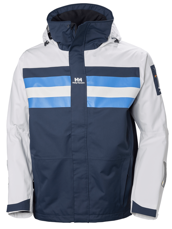 Helly Hansen Heritage Sailing Jacket - White/Navy/Blue