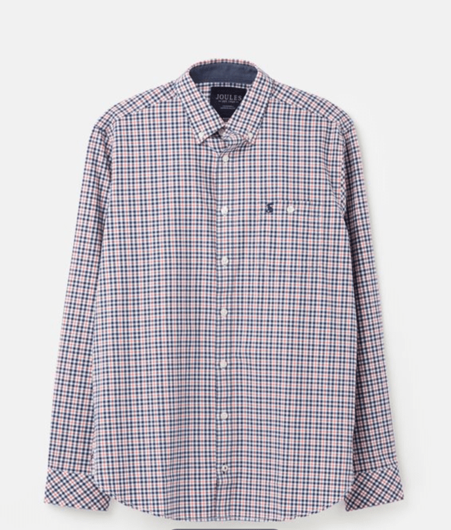 Joules Hewney Long Sleeve Shirt - Blue/Red