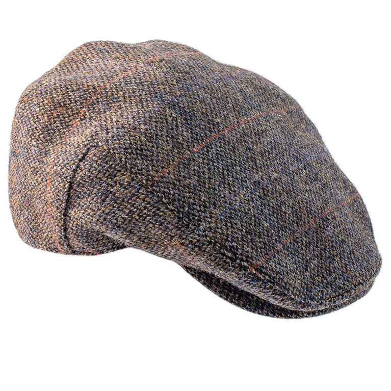 Heather Hat's Highland Harris Tweed Cap - Grey