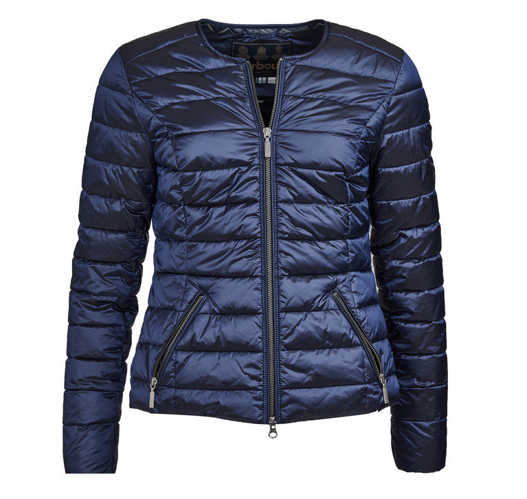 Barbour Highland Quilt Jacket - Royal Navy