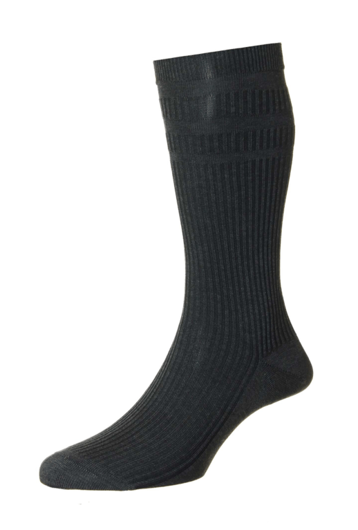 Pantherella Ickburgh Socks - Dark Grey