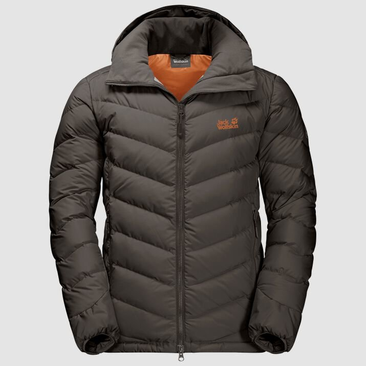 Jack Wolfskin Men's Fairmont Down Hoody  - Brownstone