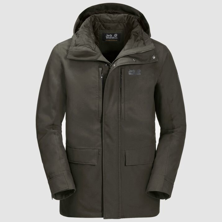 Jack Wolfskin Men's West Coast Jacket - Dark Moss