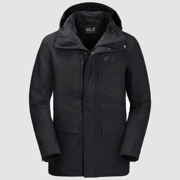 Jack Wolfskin Men's West Coast Jacket - Black