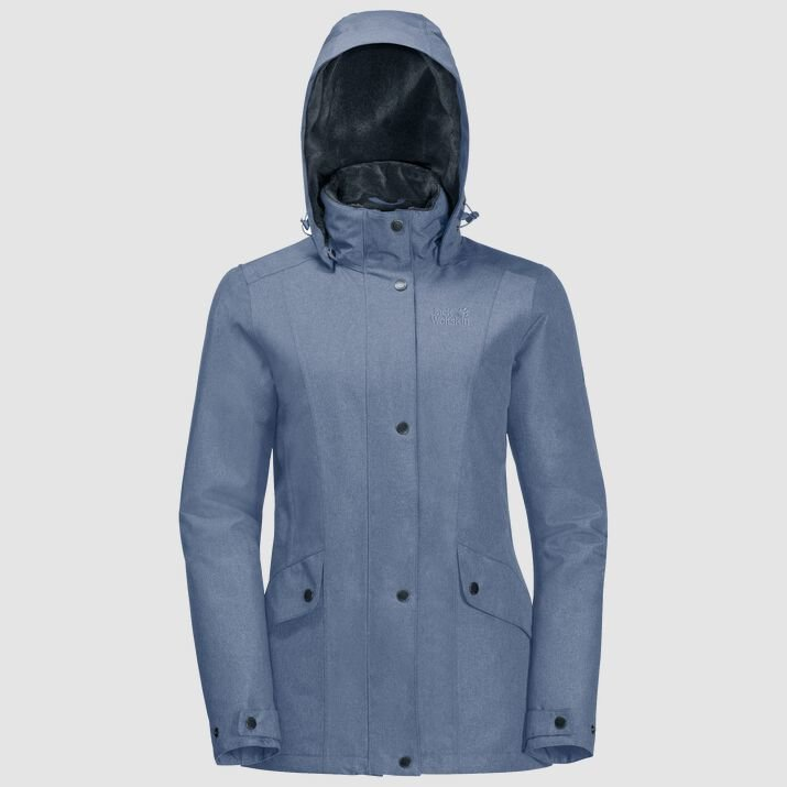 Jack Wolfskin Women's Park Avenue Jacket  - Blue Wash