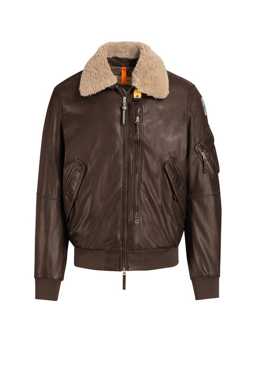 Parajumpers Men's Josh Leather Jacket - Dark Brown