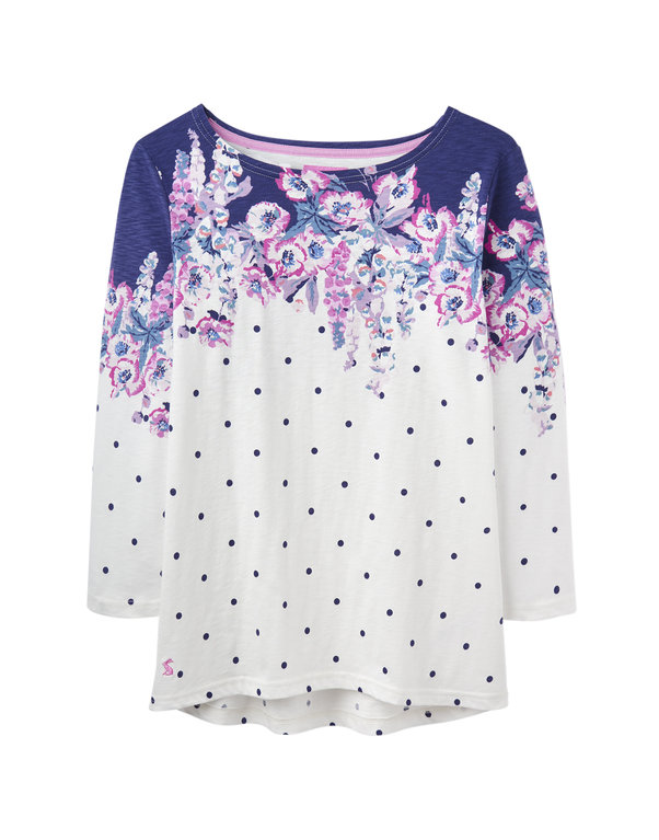 Harbour Print Top - Cream Floral Spot