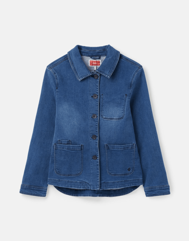 Joules Alice Denim Jacket  - Mid Indigo