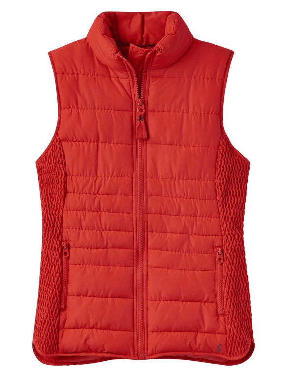 Joules Fallow Padded Gilet - Red