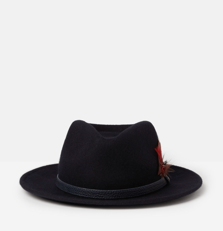 Joules Fedora Felt Hat - French Navy