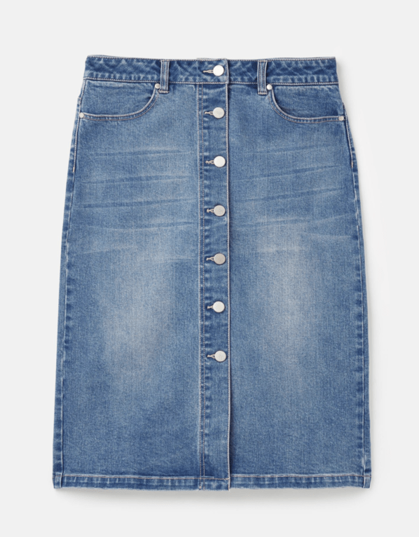Joules Francesca Skirt - Light Denim