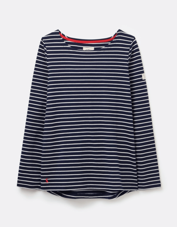 Joules Harbour Long Sleeve Top  - Navy Stripe