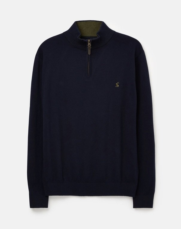 Joules Hillside Zip Jumper - French Navy