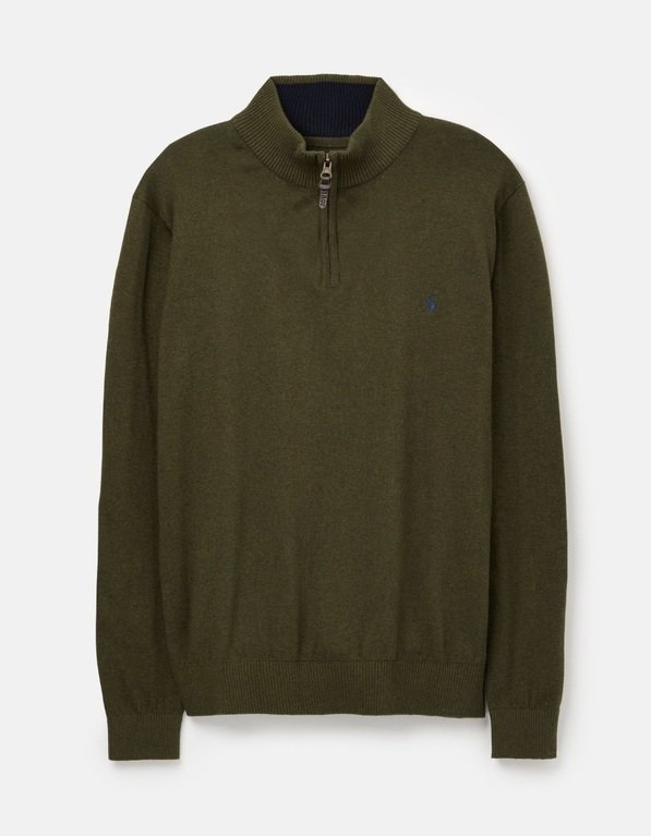 Joules Hillside Zip Jumper - Dark Green