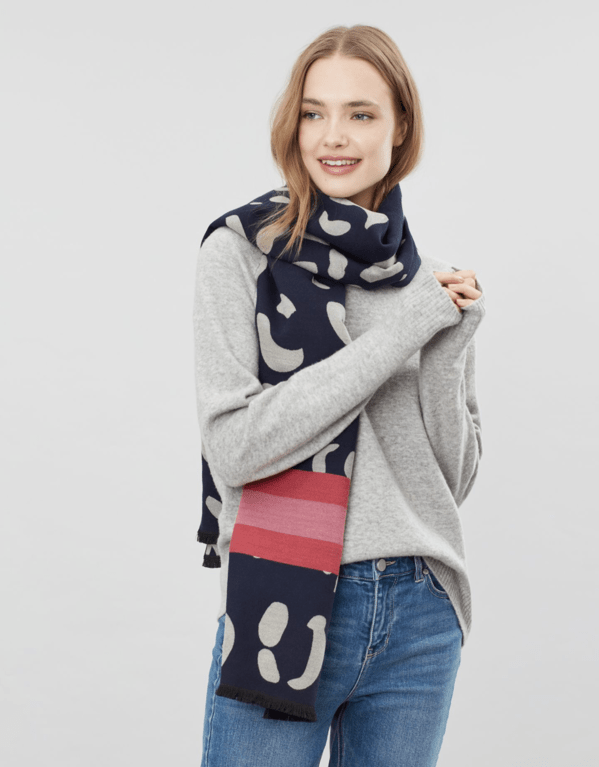 Joules Jacquelyn Scarf - Navy Leopard