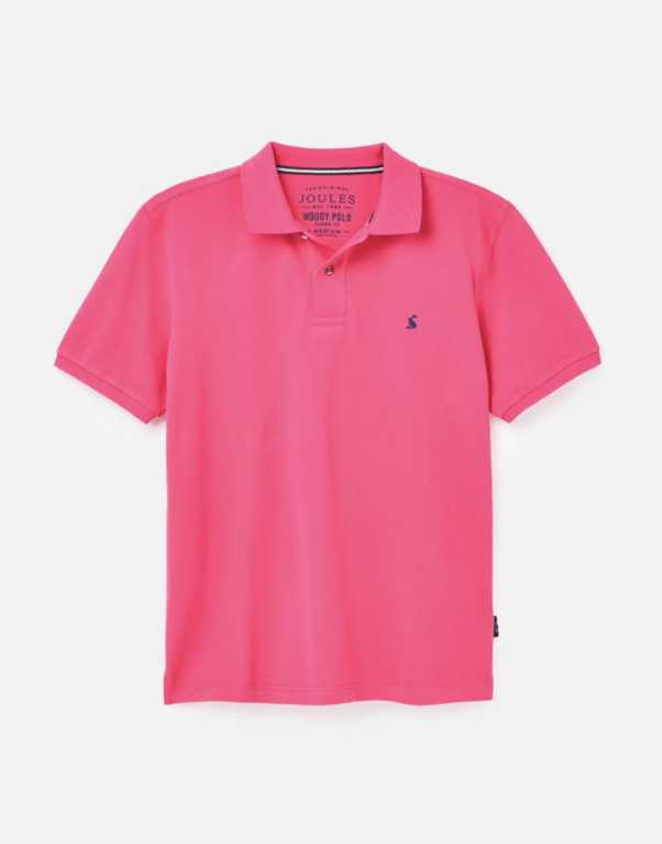 Joules Men's Woody Polo  - Bright Pink