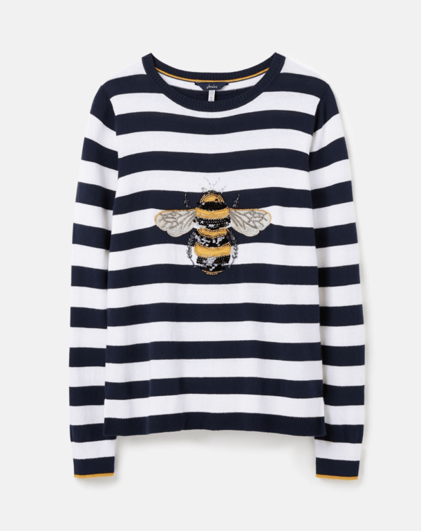Joules Miranda Luxe Sweater  - Navy Stripe