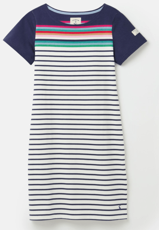 Joules Riviera Stripe Dress - Blue Border