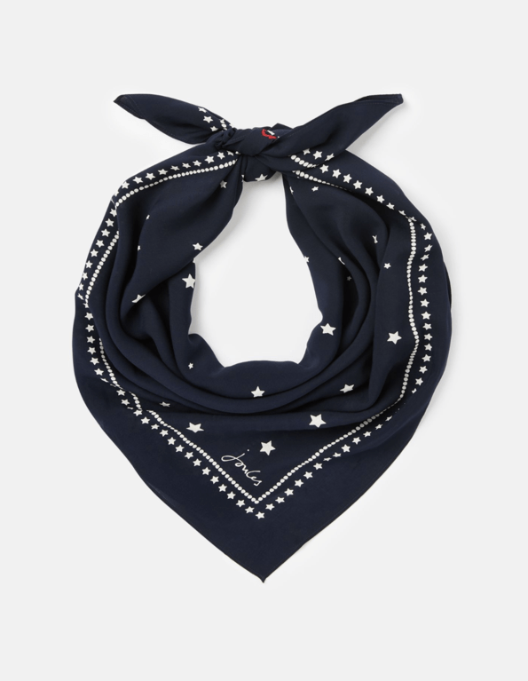 Joules Tiewell Square Neckerchief - Navy Star