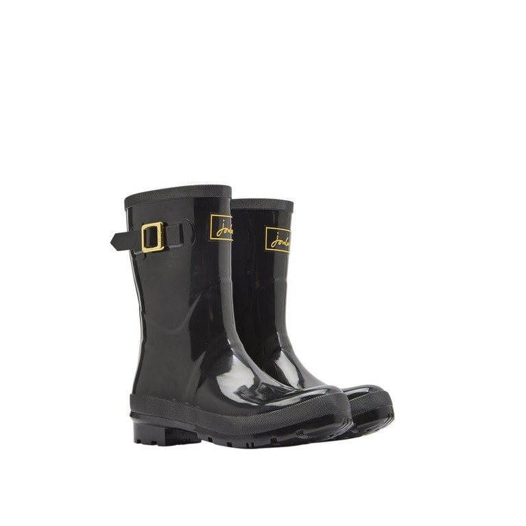 Joules Kelly Mid Gloss Wellington - Black
