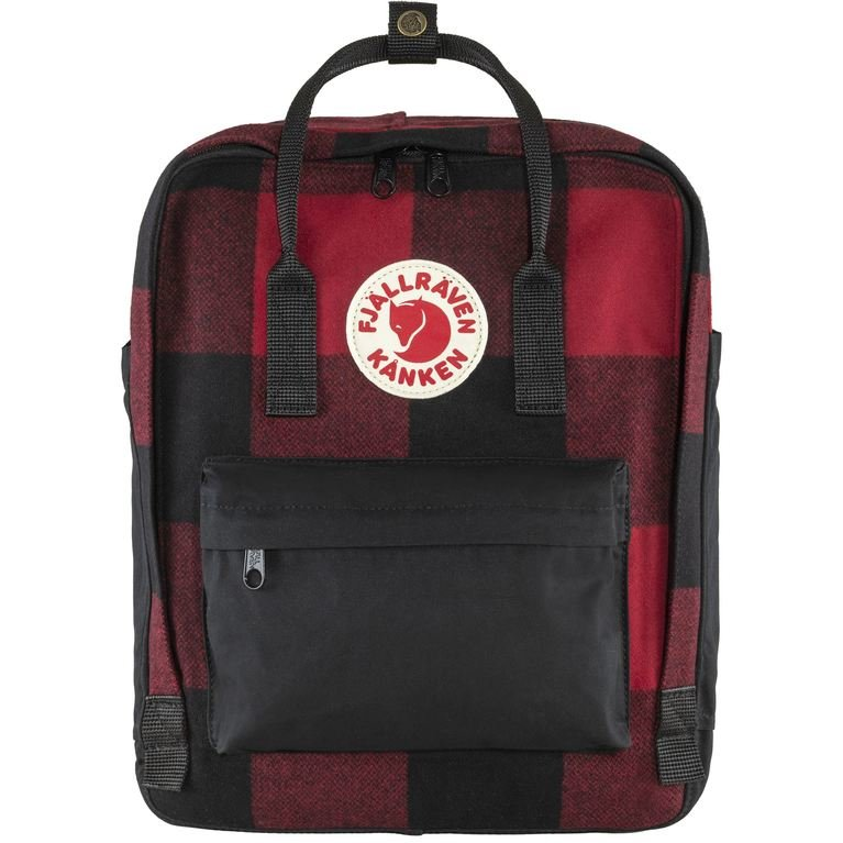 Fjallraven Kanken Re-Wool - Red/Black