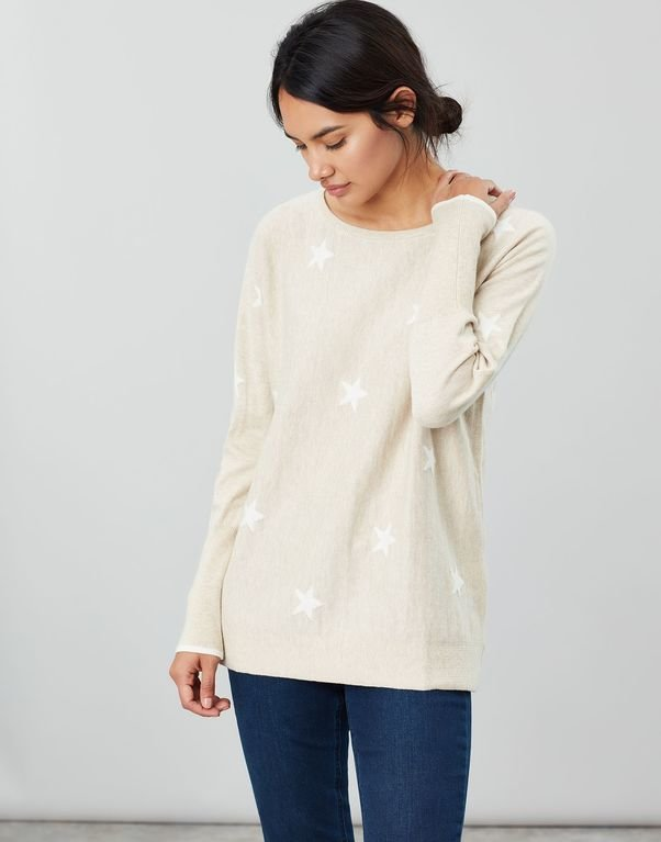 Joules Kellie Swing Jumper - Oat Star