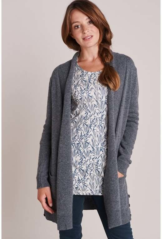 Mistral Edge to Edge Cardigan  - Charcoal